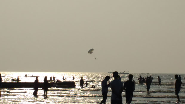 Parasailing at Alibaug Beach